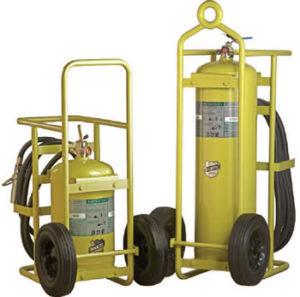 Wheeled Halotron Fire Extinguisher