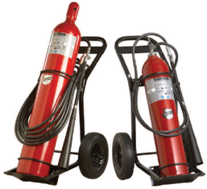 Wheeled Carbon Dioxide Fire Extinguisher