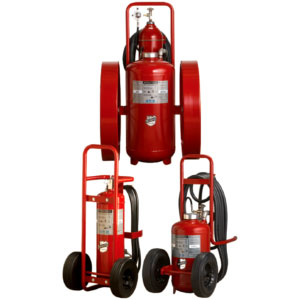 Wheeled Dry Chemical Fire Extinguisher